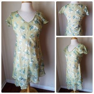 Positive Attitude Vintage Green Floral Dress